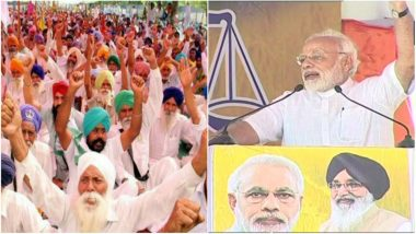 Farmers Hold Protest as Narendra Modi Arrives in Punjab for Farmers' Rally