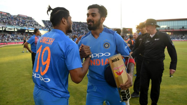 KL Rahul Hits 53-Ball-Century Against England in First T20I: Watch Video Highlights of Indian Batsman's Hundred from Manchester