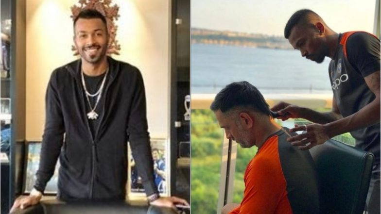Hardik Pandya's Special Gift for MS Dhoni on His 37th Birthday was a Haircut, See Pic