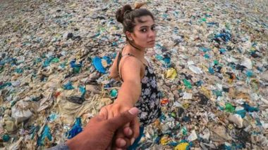 A Sea of Plastic! Photo Showing Mumbai's Juhu Beach Covered in Plastic Waste Goes Viral