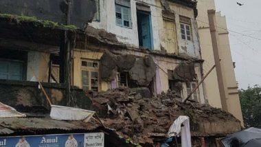 Mumbai Rains: Portion of Building Collapses in Kurla Amid Incessant Rainfall