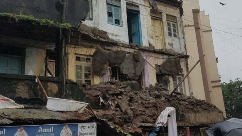 Mumbai Rains: Portion of Building Collapses in Kurla Amid Incessant Rainfall