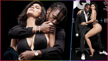 Kylie Jenner Goes Almost Naked Posing With Boyfriend Travis Scott for GQ Magazine Cover! See Couple's Insanely Hot Photoshoot