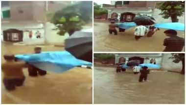 Pregnant Lady in Tikramgarh, Madhya Pradesh Carried On a Cot in Water-Logged Streets As Ambulance Fail to Reach in Time: Watch Video