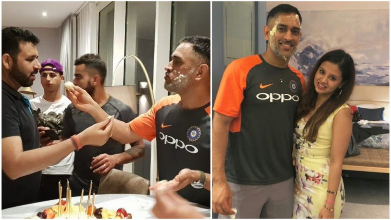 Mahendra Singh Dhoni Celebrates 37th Birthday with his Wife, Daughter Ziva and Team India Players in England: Watch Video