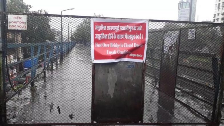 Malad FOB Closed For Public Due To 'Unsafe Condition' Amid Heavy Rains In Mumbai