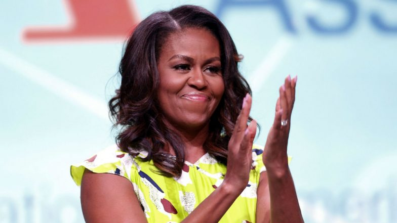 Michelle Obama lets her hair down and dances at Beyonce