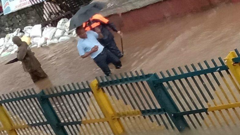 Nallasopara Worst Hit In Mumbai Rains as Railway Tracks Get Submerged in Water; View Pics