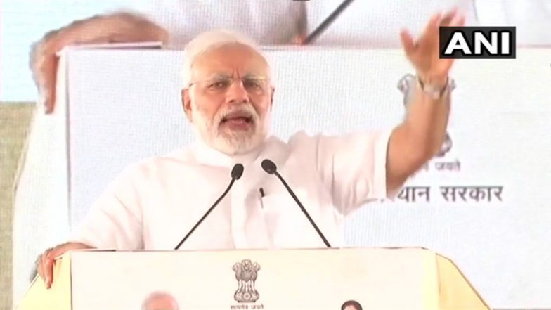 PM Narendra Modi Derides Congress, Calls It 'Bail Gaadi'