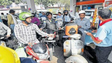 Petrol Crosses Rs 90 Mark in Maharashtra's Parbhani Day After Bharat Bandh Called by Opposition