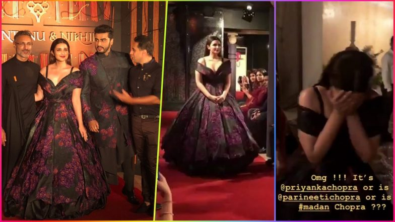Parineeti Chopra Looks Resplendent Walking for Designer Shantanu & Nikhil While Arjun Kapoor Calls Her Priyanka Chopra in Fun Backstage Video!