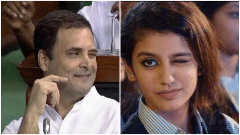 Priya Prakash Varrier Says Rahul Gandhi's Wink After Hugging Narendra Modi in Parliament Was a Sweet Gesture: Watch Video