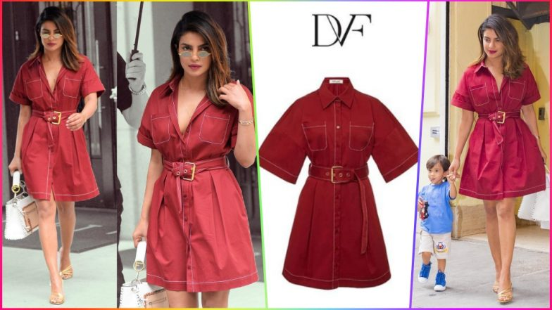 Priyanka Chopra Steps Out in Style Wearing DVF Shirtdress Worth Rs 30,000 – Quite Affordable, Right?