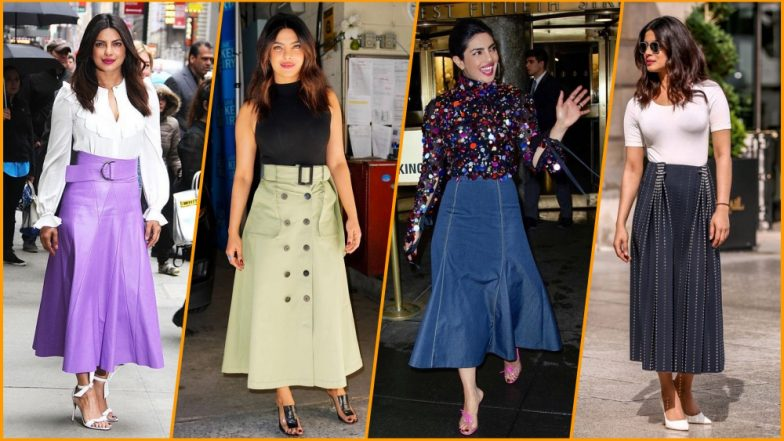 Priyanka Chopra Shows Us How to Wear Midi Skirts in Four Glamourous Ways: Check Out Pics of Global Fashion Icon