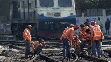 Train Accident Averted: Narrow Escape For Delhi-Howrah Rajdhani and Magadh Express as Motorman Spots 14-Inch Gap in Railway Tracks