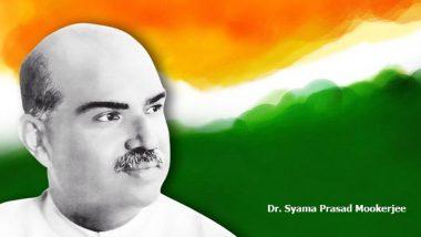 Syama Prasad Mookerjee Birth Anniversary: BJP Pays Tribute to Bharatiya Jana Sangh Founder