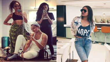 Sonakshi Sinha Doing Core Stix and Pilates in Her Instagram Fitness Video Is Simply #FitnessGoals