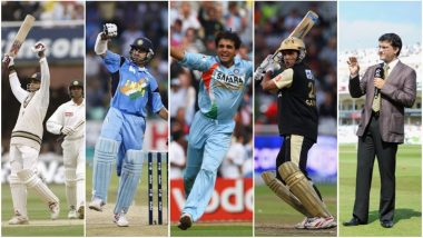 Sourav Ganguly, The Maharaja of Indian Cricket: A Walk Down the Memory Lane of India's Fiery Captain and Finest Left-Handed Batsman on His 46th Birthday!