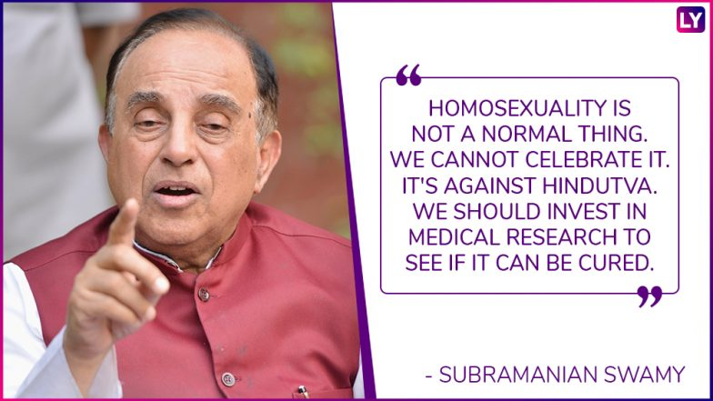 Subramanian Swamy Calls Gay Sex Unnatural: 5 Times Indian Politicians Spoke Against Homosexuality