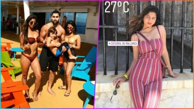 Suhana Khan Poses in a Sexy Tiny Bikini With Younger Brother AbRam: See Pictures of SRK Kids From European Family Vacation