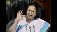 Sumitra Mahajan, Former Lok Sabha Speaker and BJP Leader is Fine: Kailash Vijayvargiya Clarifies on Death Hoax