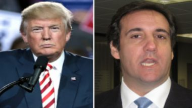 U.S. President Donald Trump Slams Former Lawyer Michael Cohen Over Alleged Recording of Their Phone Conversations