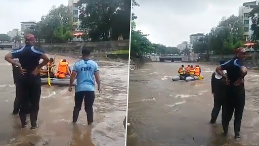 Mumbai Rains: Two Boys Go Missing in Dombivali Nullah; Search and Rescue Operation Underway
