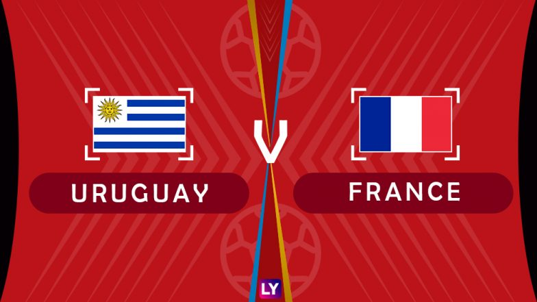 Uruguay vs France, Live Streaming of Quarter-Finals 1: Get Knockout Match URU vs FRA Telecast & Free Online Stream Details in India for 2018 FIFA World Cup