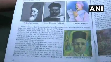 Jawaharlal Nehru's Photo Replaced by Vinayak Savarkar's in Class 10 Social Science Textbook in Goa, Claims NSUI
