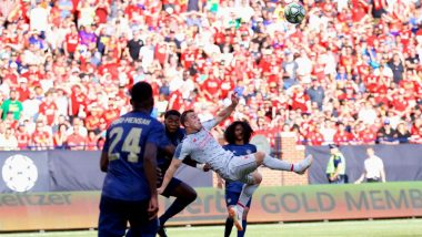 Xherdan Shaqiri Scores a Bicycle-Kick Goal on Liverpool Debut Against Manchester United in International Champions Cup Match: Watch Video