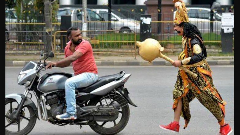 Bengaluru Traffic Police Use 'Yamaraja' to Warn Motorists Against Violations
