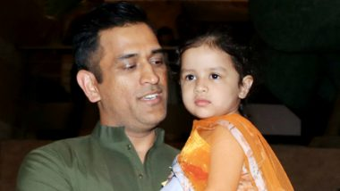 MS Dhoni Shares Cute Video of Daughter Ziva, Former Indian Captain Is Enjoying His Time Off Ahead of the Asia Cup 2018