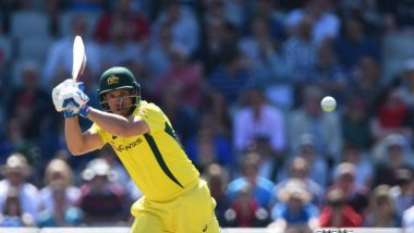 Aaron Finch Hits 15th Hundred in ODIs and Second Ton in ICC CWC 2019 During ENG vs AUS Match at Lord's, Gets Dismissed On The Very Next Ball