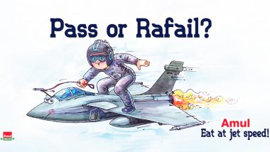 Rafale Deal Controversy Gets an Amul Doodle After No-Confidence Motion Debate in Parliament; Ad Ask If It's 'Pass or Rafail'