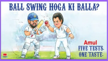Amul's Latest Topical Is About Virat Kohli vs James Anderson Battle Ahead of India vs England 1st Test