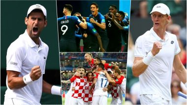France vs Croatia 2018 FIFA WC Final or Novak Djokovic vs Kevin Anderson Wimbledon Men's Singles Final Match, Which One Will You Watch Live? Here Is How to Catch the Scores of Both at Same Time