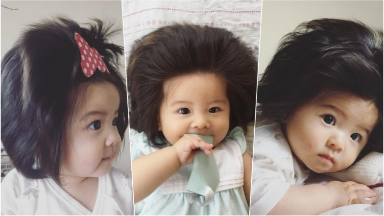 Japanese baby with major hair goes viral