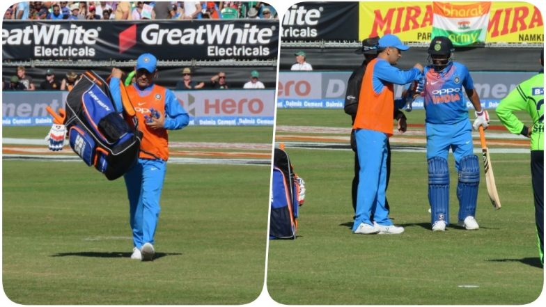 Ireland vs India: MS Dhoni Serves Drinks During the Match, Netizens Praise His Gesture