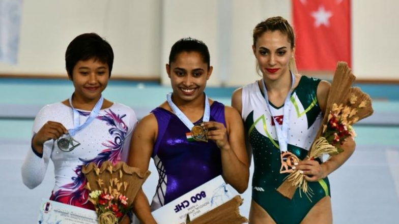 Dipa Karmakar Becomes First Indian to Win Gold at Gymnastics World Challenge Cup