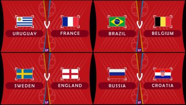 2018 FIFA World Cup Quarter-Finals Match Predictions: France, Brazil, Croatia and England Favorites to Qualify for Semi-Finals