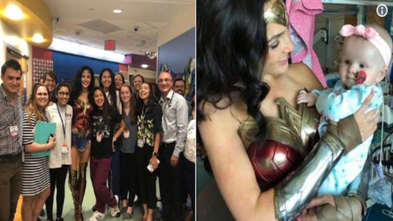 Gal Gadot Visited a Children's Hospital in Her Wonder Woman Costume and the Pictures Will Melt Your Heart