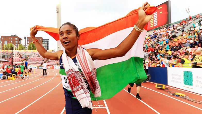 Hima Das Wins India's First Gold in the World Under-20 Championship! PM Narendra Modi, Rajyavardhan Rathore, Amitabh Bachchan, Virender Sehwag & Others Hail her Feat