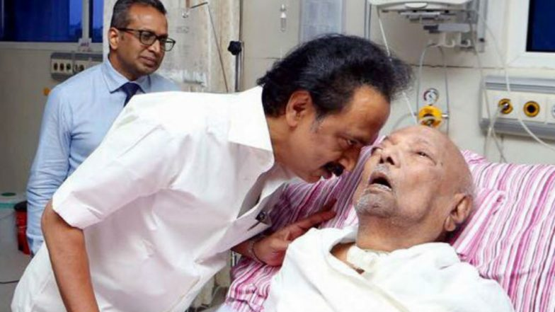 Karunanidhi Death: MK Stalin Writes Emotional Letter To DMK Patriarch; Says 'Wanted to Call You Appa Once'