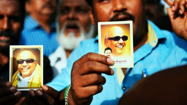 Karunanidhi Health Update: Next 24 Hours Very Critical for Kalaignar's Life, Supporters Pray Outside Kauvery Hospital, Traffic Paralysed in Chennai