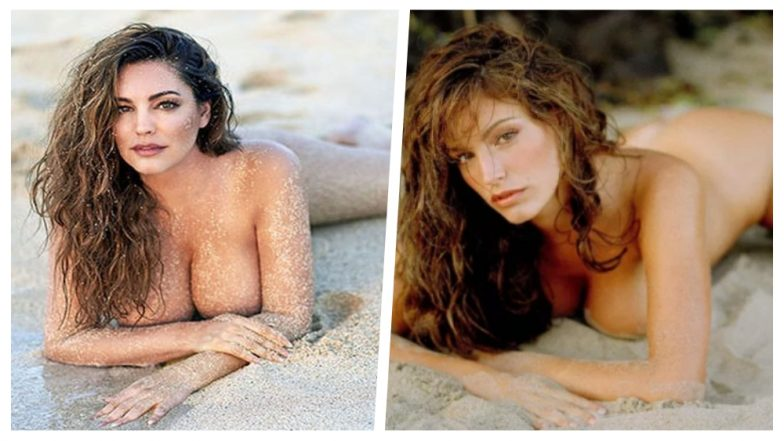 Kelly Brook Recreates Her Nude Photo on the Same Beach Where She Was First Clicked 18 Years Ago