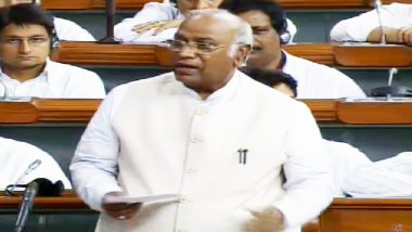 No-Confidence Motion Debate: Narendra Modi Government Adopting Divide and Rule Policy, Says Mallikarjun Kharge