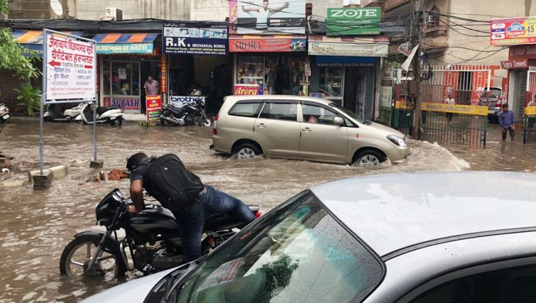 Waterlogging in Ludhiana (Image credits: LatestLY)