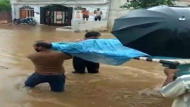 Poor Medical Facilities, Pregnant Woman Carried on Cot Through Flooded Streets in Madhya Pradesh, Watch