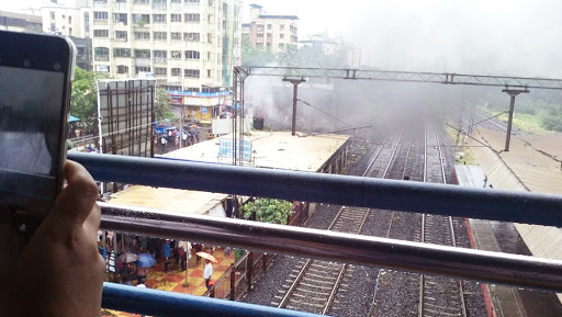 Fire in Mira Road Railway Station, Mumbai at the New Ticket Counter Area