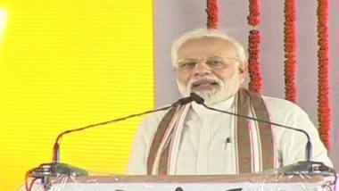 PM Narendra Modi Speaks on Rahul's Hug While Addressing Rally at Shahjahanpur's Roza, Says 'Gale Pad Gaye' Instead of Answering Questions on Why No- Confidence Motion